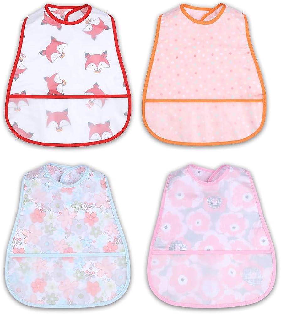 Baby Waterproof Bibs - Toddler/Infant/Feeding Bib, Washable, soft, 6-36 Months