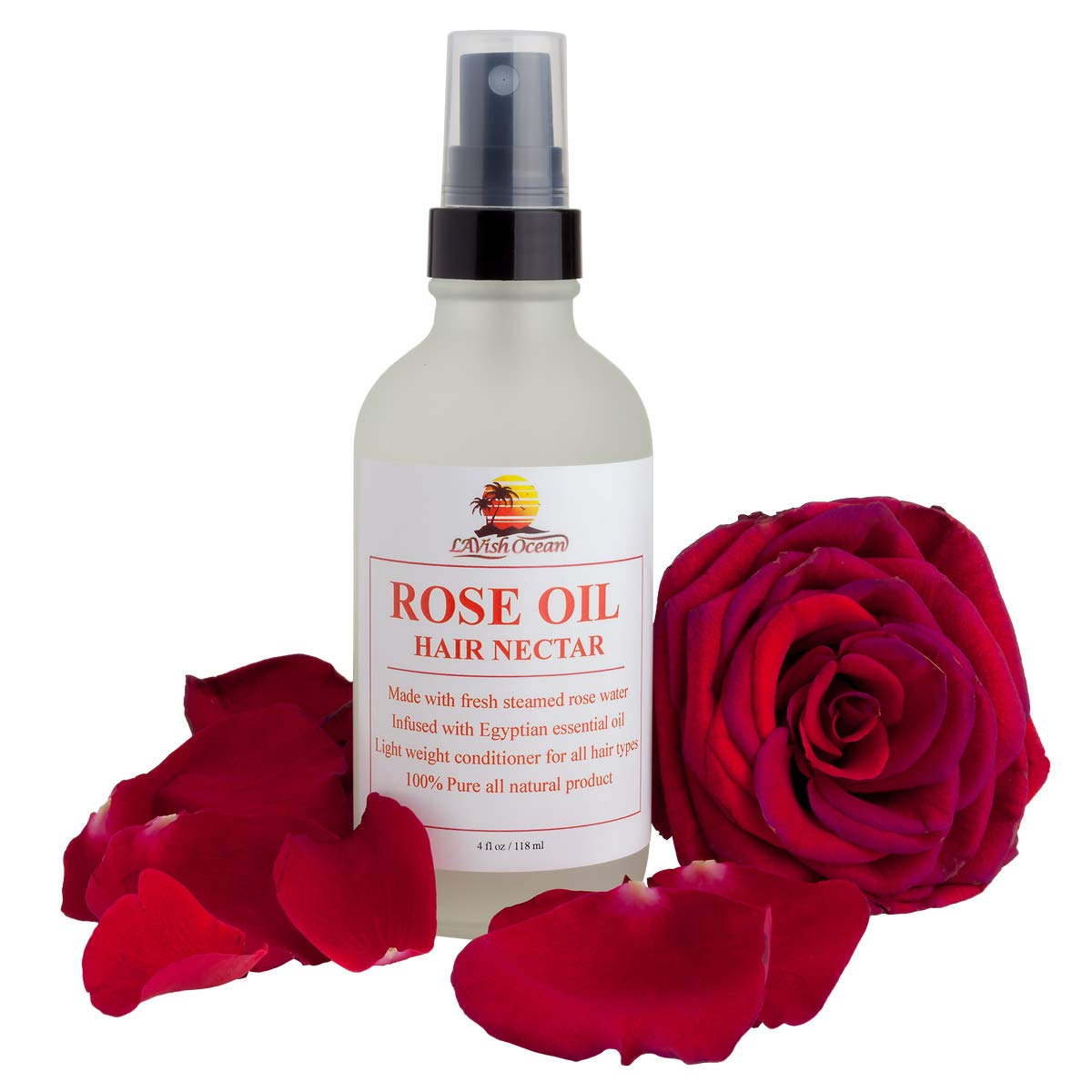 Lavish Ocean Rose Oil Hair Nectar - Made With Fresh Steamed Rose Water