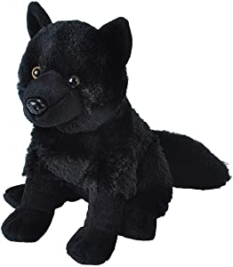 Wild Republic Wolf Plush, Stuffed Animal, Plush Toy, Kids Gifts, Black, 12""