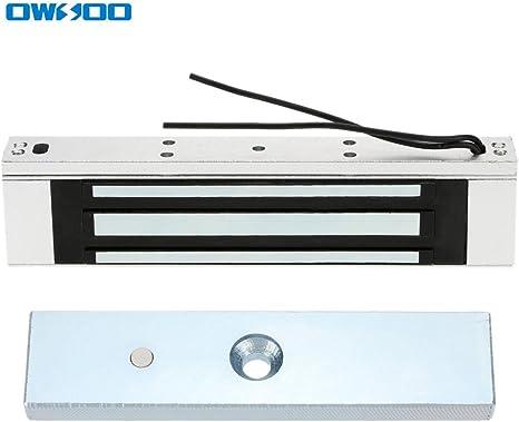 OWSOO Magnetschloss Elektrische 320KG 700lbs Haltekraft f/ür T/ür Zutrittskontrollsystem Access Control System Elektromagneten Fail-Safe NC Modus