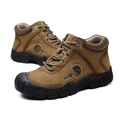 227486cddd7dd Amazon.com: FGSJEJ Men's Leather Hiking Shoes Waterproof Outdoor ...