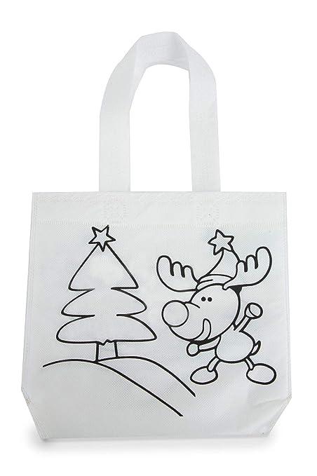 DISOK - Lote de 30 Bolsas para Colorear Navidad Infantiles ...