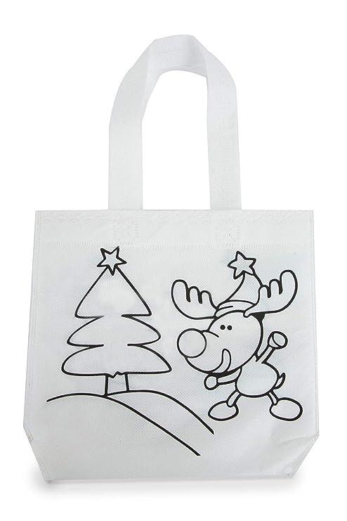 DISOK - Lote de 30 Bolsas para Colorear Navidad. Ideal ...