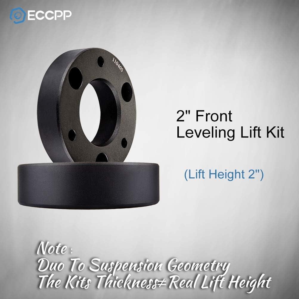 ECCPP Leveling lift kit for Silverado 1500,for Chevy Silverado Strut Spacer Raise your vehicle 2 Front Leveling lift kit 2007-2017 GMC Sierra GM 1500 lift kit BHBS0405A1449