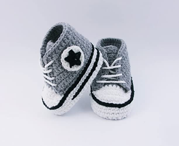 Amazoncom Crochet Baby Shoes Baby Sneakers Baby Booties Baby