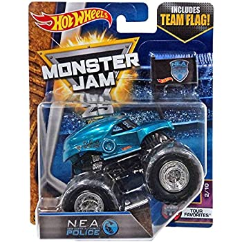 Amazon Com N E A Nea Police Cop Monster Jam Truck Diecast Hot