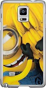 Loud Universe Samsung Galaxy Note 4 Files Minion 10 Printed Transparent Edge Case - Multi Color