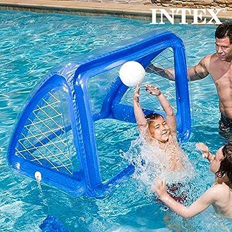 Inflable portería de fútbol y piscina balón de fútbol inflable mar ...