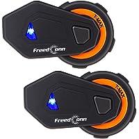 Freedconn BT Motorcycle Intercom Sistema de comunicación de Motocicleta T-MAX Casco Interphone