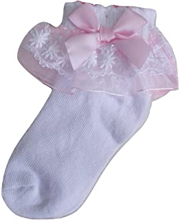 12-18 Months Wedding Party Christening Baby Girls White Special Occasion Socks