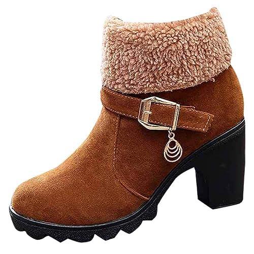 Botines Martin Mujer Moda OHQ Bandada De Invierno Plataforma Plegable Botas De Nieve CáLidas Negro Rojo Beige Azul Zapatos: Amazon.es: Zapatos y ...
