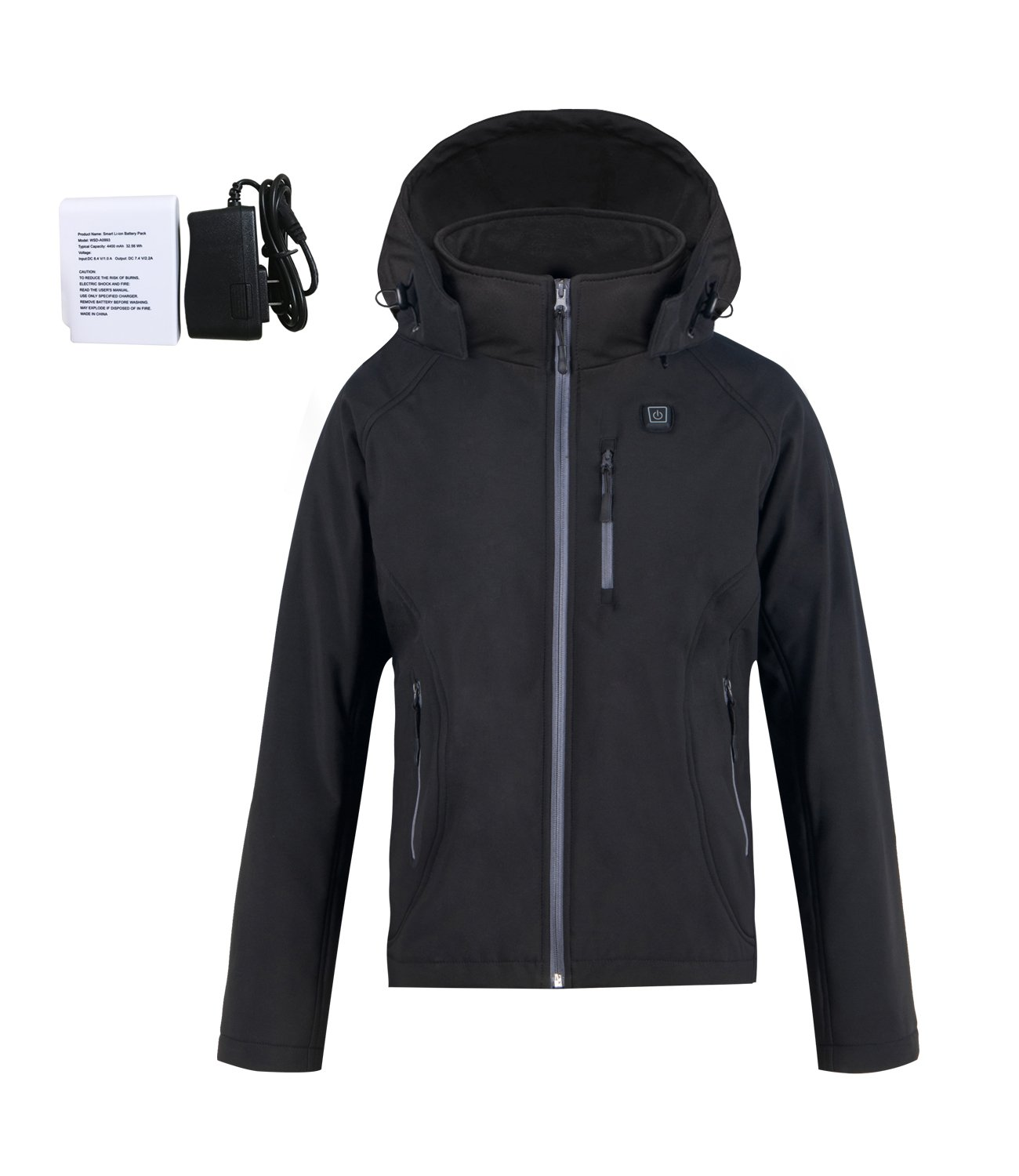 Women's Heated Jacket,Tkria Slim Heated Jacket Kit with Battery Pack Outwear (Detachable Hood) by Tkria (Image #1)