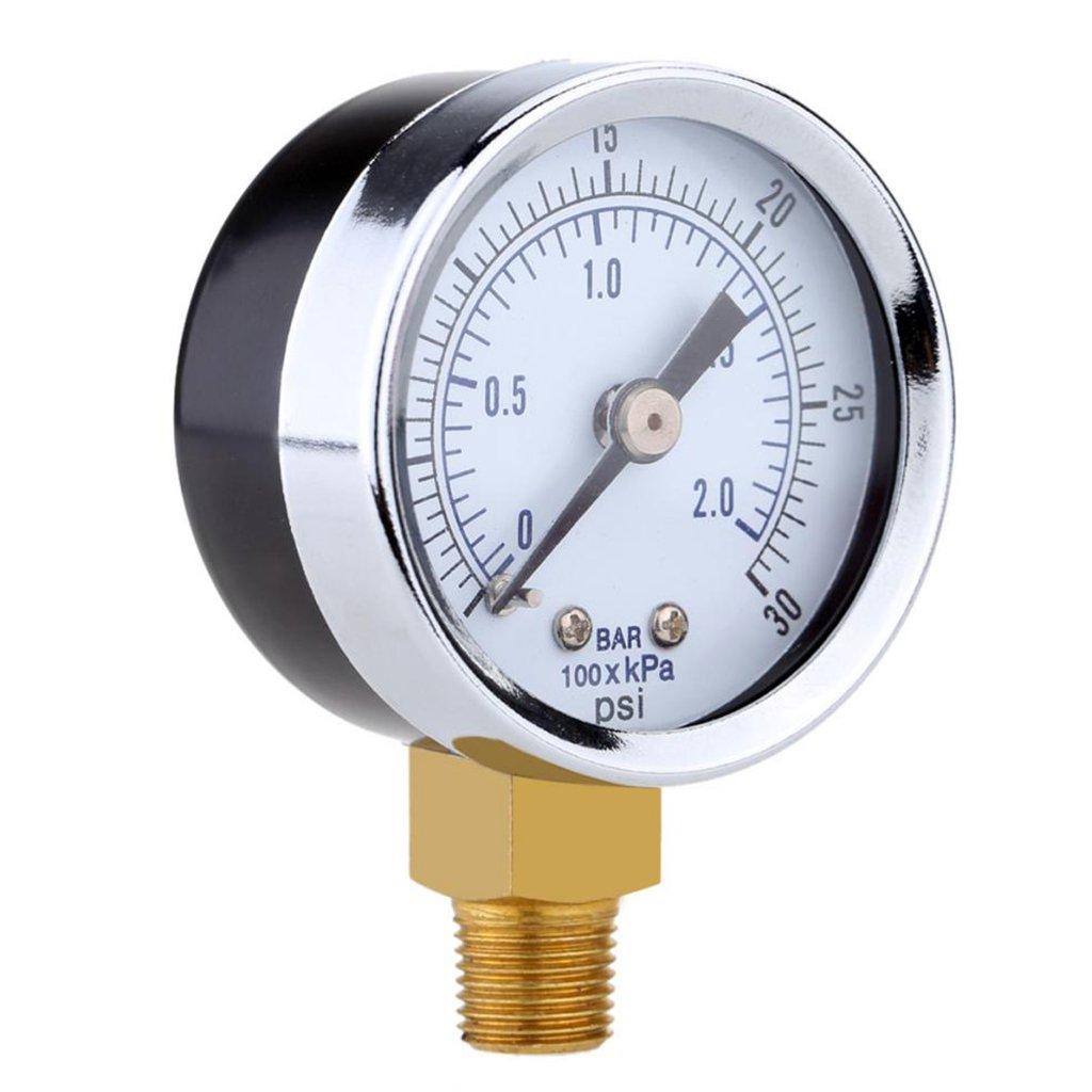 Sharplace 0-30psi 0-2bar Manom/ètre de Pression Cadran Compresseur dair M/ètre Jauge de Pression Hydraulic