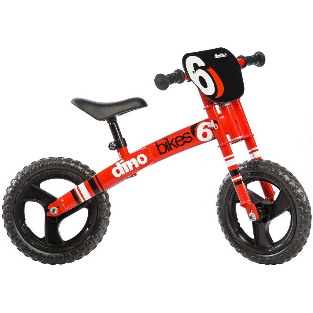 Dino Bikes 150 R unisex camino de empuje Bicicleta de madera sin pedales para niños de 3 a 4 años rojo