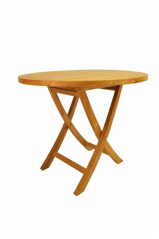 Anderson Teak Bahama Round Bistro Folding Table, 27-Inch
