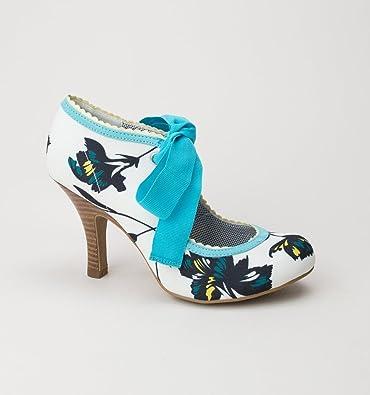 Ruby Shoo Damen Pumps Willow Florale Schleifen Schuhe Geschlossen