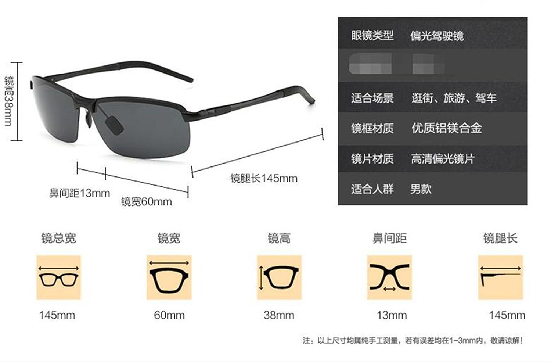 Sucastle Aluminio polarizado gafas de sol luz hombres gafas de sol conducción especial equitación pesca gafas Magnesio de aluminio TAC Funda gris caso gris ...