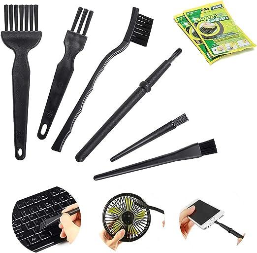 Meco 10 en 1 - Limpiador electrónico, Mango portátil, cepillos antiestáticos de Nailon, Juego de Limpieza (2 Paquetes de Gel Limpiador) para teclados, ...