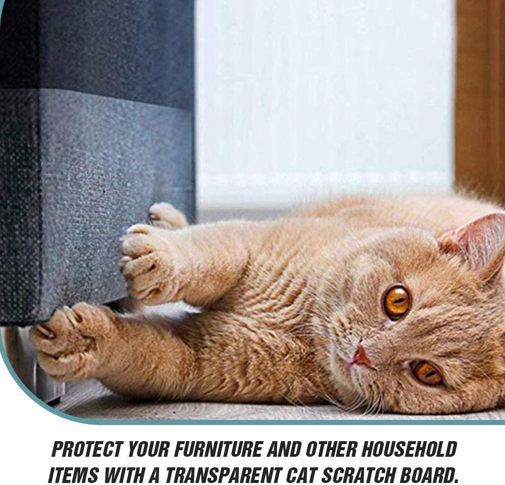 Cat Claw Protector Sofa Protect Pads  Couch Furniture Protectors from Cat Scratch Couch Corner Claw Guards for Cats Anti-Scratch Deterrent Self-Adhesive Pre Cut Pads - Residue Free