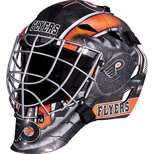 (Franklin Sports Philadelphia Flyers Goalie Mask - Team Graphic Goalie Face Mask - GFM1500 Only for Ball & Street - NHL Official Licensed Product)