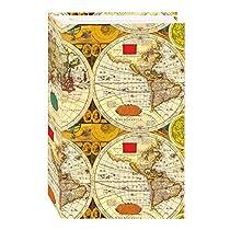 3-Ring Photo Album 504 Pockets Hold 4x6 Photos, Ancient World Map Design