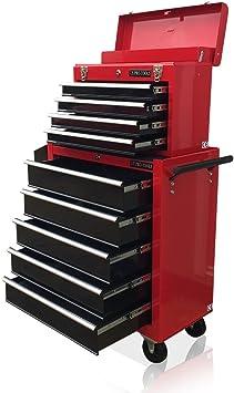US PRO TOOLS rojo negro mecánica de herramientas con caja de ...