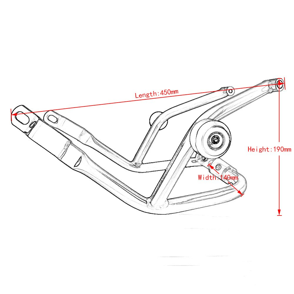 compatible con barras de choque de tanque de protecci/ón para 2013 Protector de parachoques para motocicleta XXEtrade 2016 KTM 125 200 390 Duke 2014 2015