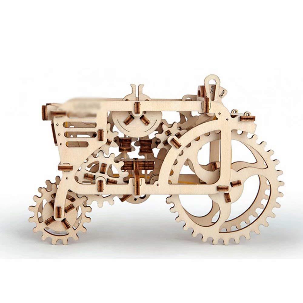Mx-model Hölzerner mechanischer Antrieb, der das Geschenk der dreidimensionalen Puzzlespielkinder des Modellwissenschaftspielzeugs zusammenbaut B07L9ZZ9NG 3D-Puzzles Kompletter Spezifikationsbereich     Gewinnen Sie hoch geschätzt