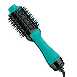Revlon One Step Hair Dryer And Volumizer Hot Air Brush, Turquoise