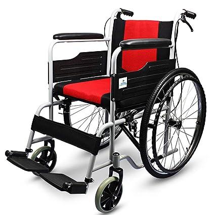DPPAN Drive Medical Transport Silla de ruedas Plegable ligero para adultos, tubo de acero fuerte