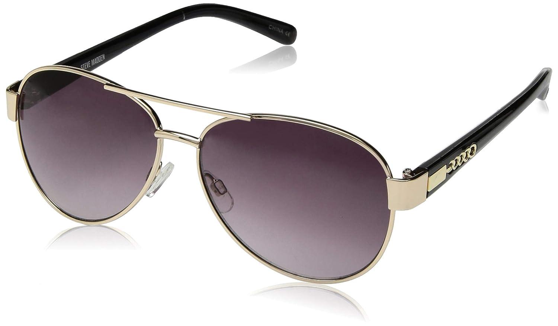 Steve Madden Women's Sm492142 Aviator Sunglasses, gold Brown, 57 mm
