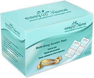 10 Pack Easy@Home 4 Panel Instant Drug Test Kits - Testing Marijuana (THC), COC, OPI 2000,MET/mAMP - Urine Dip Drug Testing -#EDOAP-144