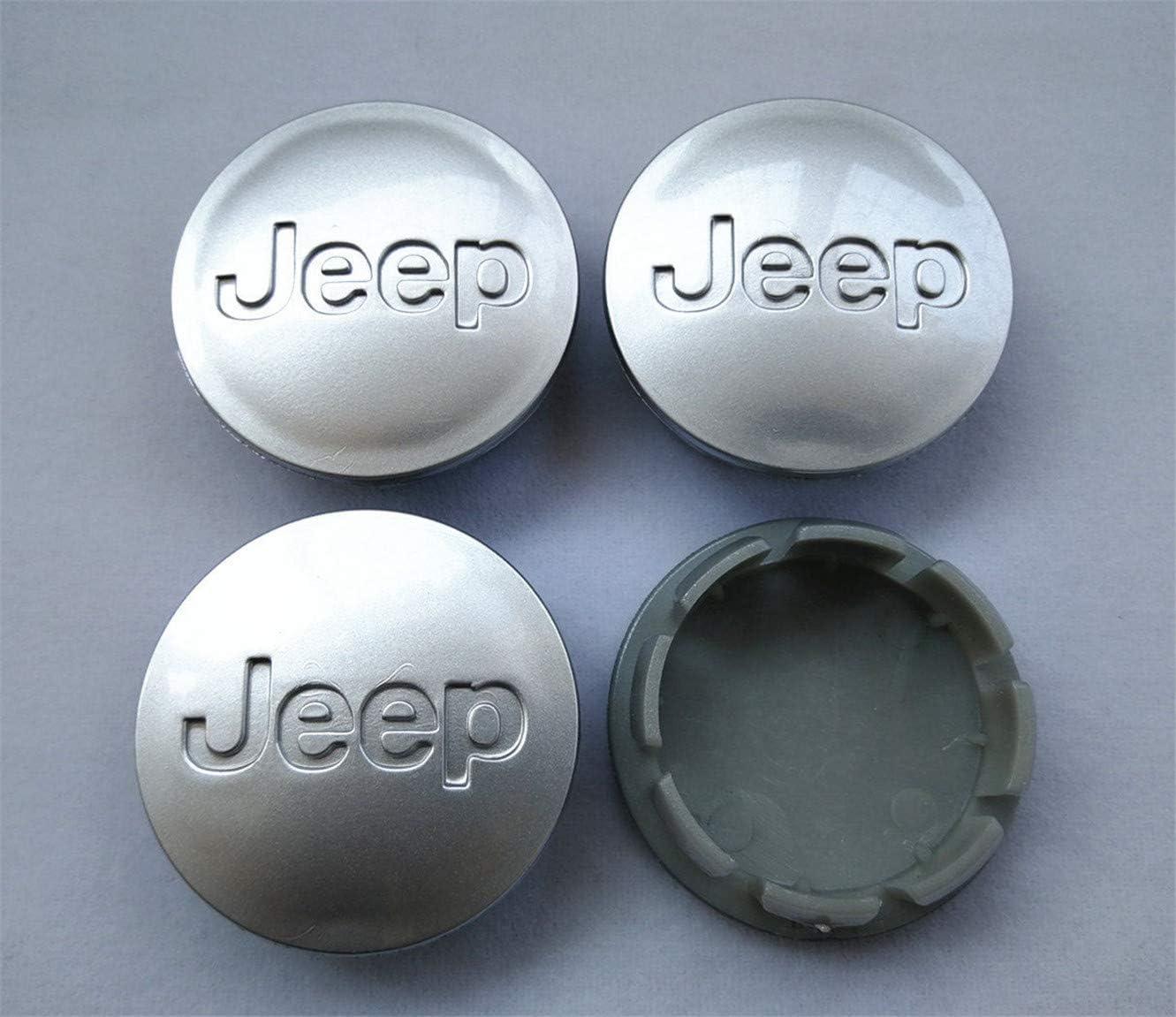 4pcs 55mm Matte Silver Wheel Center Hub Caps for Jeep Patriot 17 18 20 Wheels
