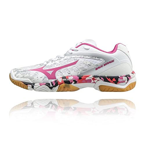Buy Preferential Price Women Mizuno Wave Mirage Indoor Court Shoes White/Pink