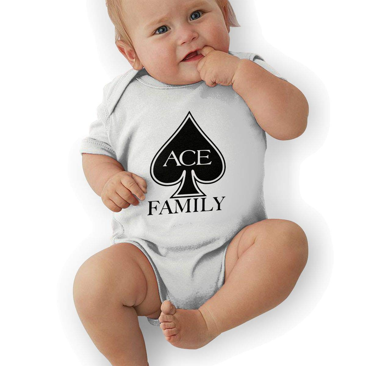 ACE Family Logo Short Sleeve Infant Jumpsuit Cute Onesie Summer Bodysuits