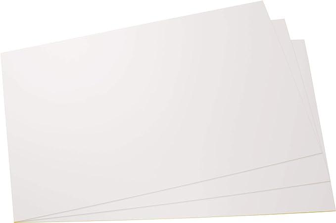 420mm x 297mm x 1mm in verschiedenen Gr/ö/ßen und Mengen Kunststoff Hart-Platten f/ür Modellbau//Basteln weiss in verschiedenen Gr/ö/ßen und Mengen Polystyrol Platten PS Platten hier 3 St/ück