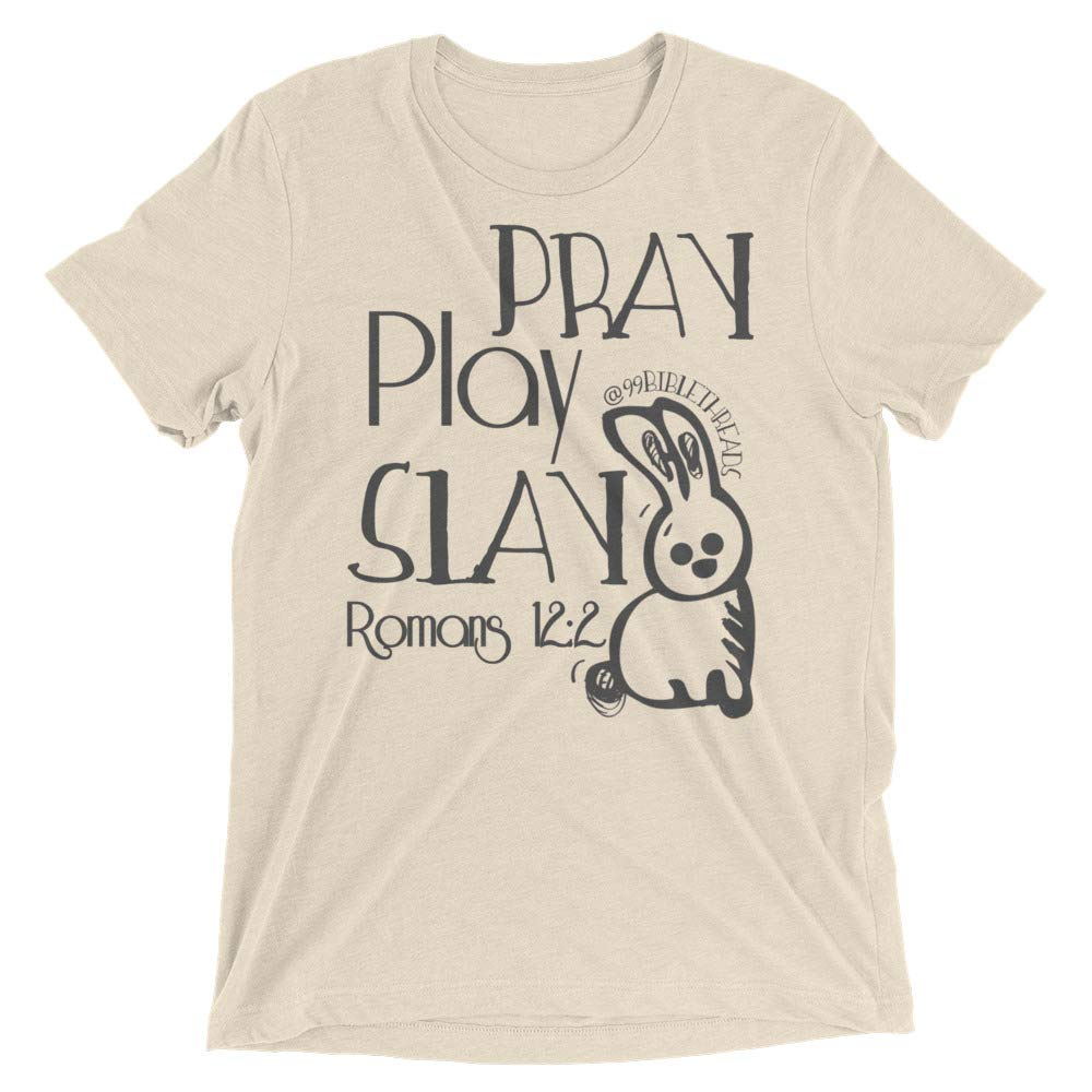 Play Short Sleeve t-Shirt Slay 99 Bible Threads Pray