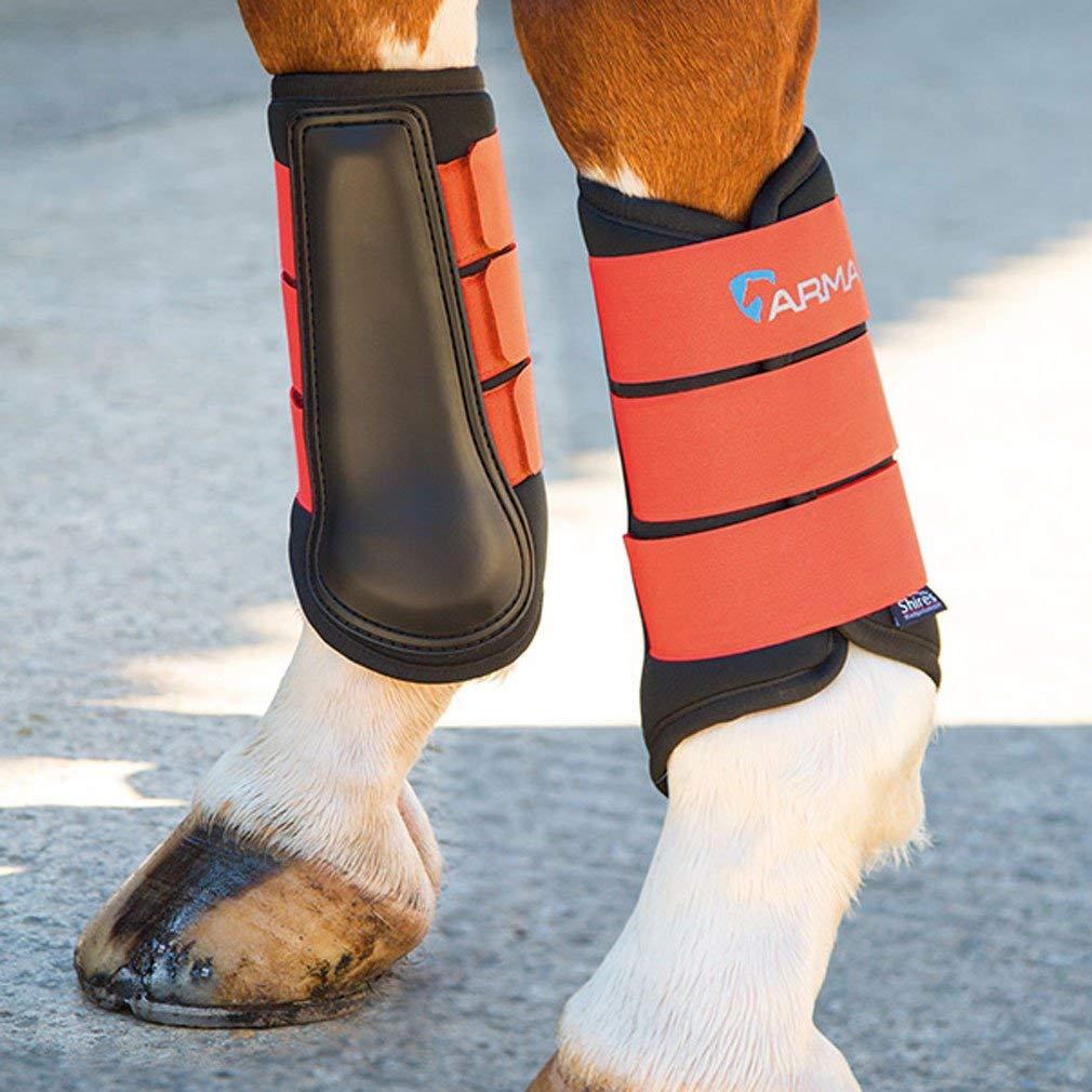 Shires ARMA Neoprene Brushing Boot Small Pony orange