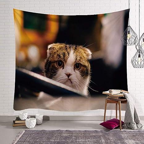 Arazzo Da Parete,Cute Cat Animale Stile Indiano,Psichedelico ...