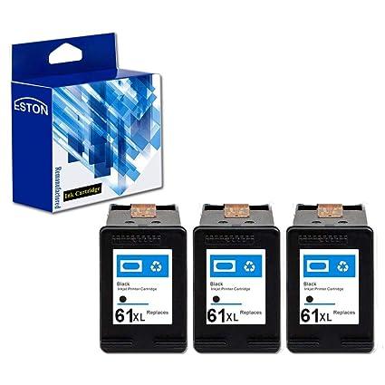 Eston 3 Pack # 61 x l (ch563 W) Negro Cartuchos de Tinta para ...