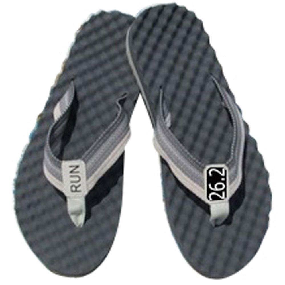 RunningontheWall Recovery Sandals, Running Flip Flop, Massaging Post-Run Footwear B0719PS8S3 Medium|Black-26.2