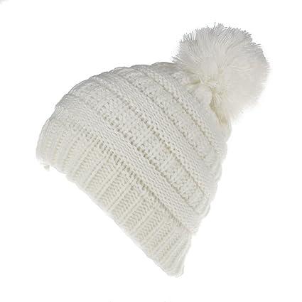 26200252 TININNA Sombrero Bebé Niño, Invierno Cálido Gorro Gorra con Pom Hairball de  Punto Beanie Warm