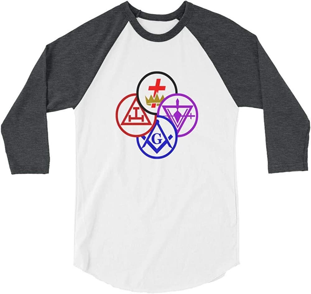 YA HEARD ME York Rite 3//4 Sleeve Raglan Shirt