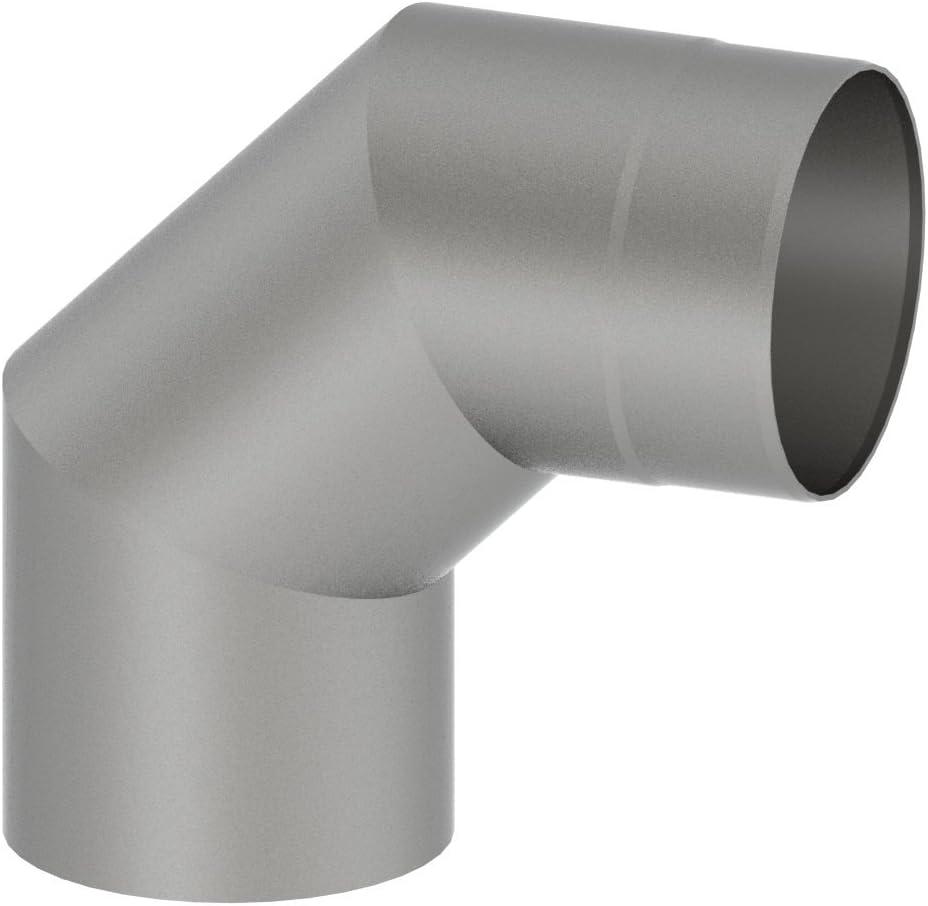 schwarz Winkelelement 90/° ohne T/ür; 150mm Durchmesser