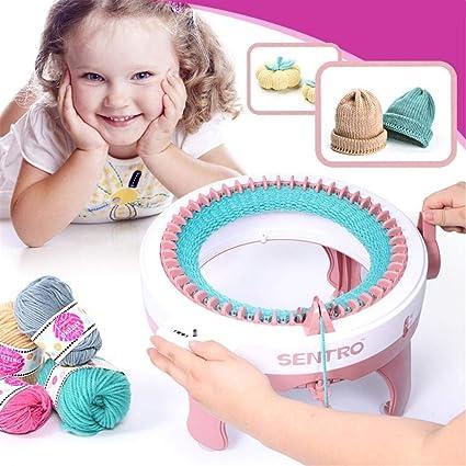 NANDAN Machine /à tricoter 48 aiguilles /à tricoter avec compteur de rang/ées rotatif /à double tricoter pour adultes//enfants DIY /écharpe chapeau chaussettes