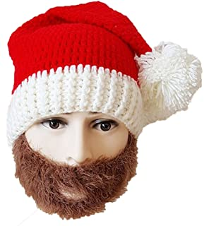 43de843352b Amazon.com  Neon Eaters Santa Hat Beanie Beard - Kids Boys Mens Fun ...