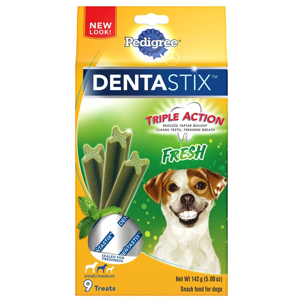 Pedigree Dentastix Dog Treats Fresh Small Medium- 9 CT