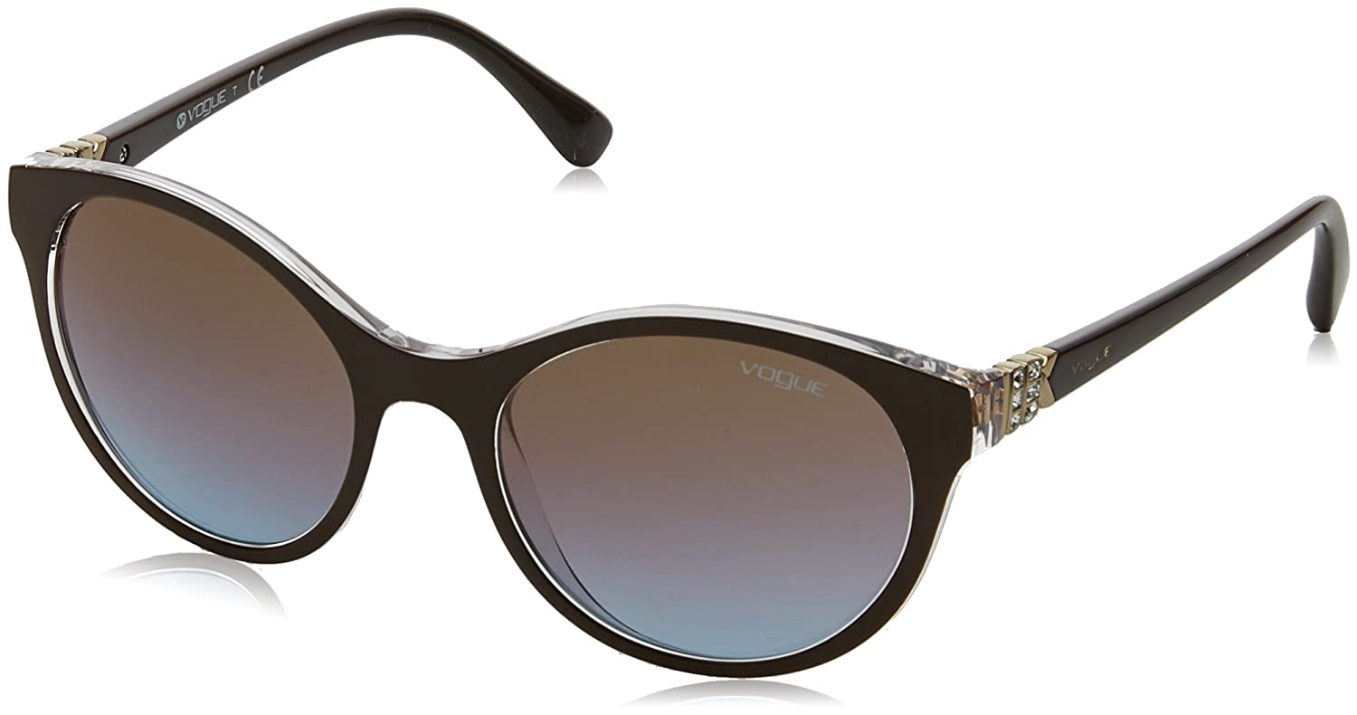 Vogue 0vo5135sb 256148 52 Gafas de sol, Top Dark Brown/Serigraphy, Mujer