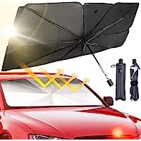 Epzia Car Windshield Sun Shade Umbrella - Foldable Car Umbrella Sunshade Cover UV Block Car Front Window (Heat…