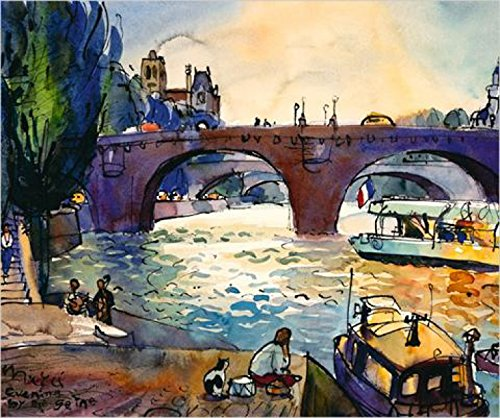 Posters: Michael Leu Poster Art Print - Evening By The Seine (24 x 20 inches) Michael Leu Poster